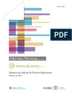 Informe técnico indec ipc