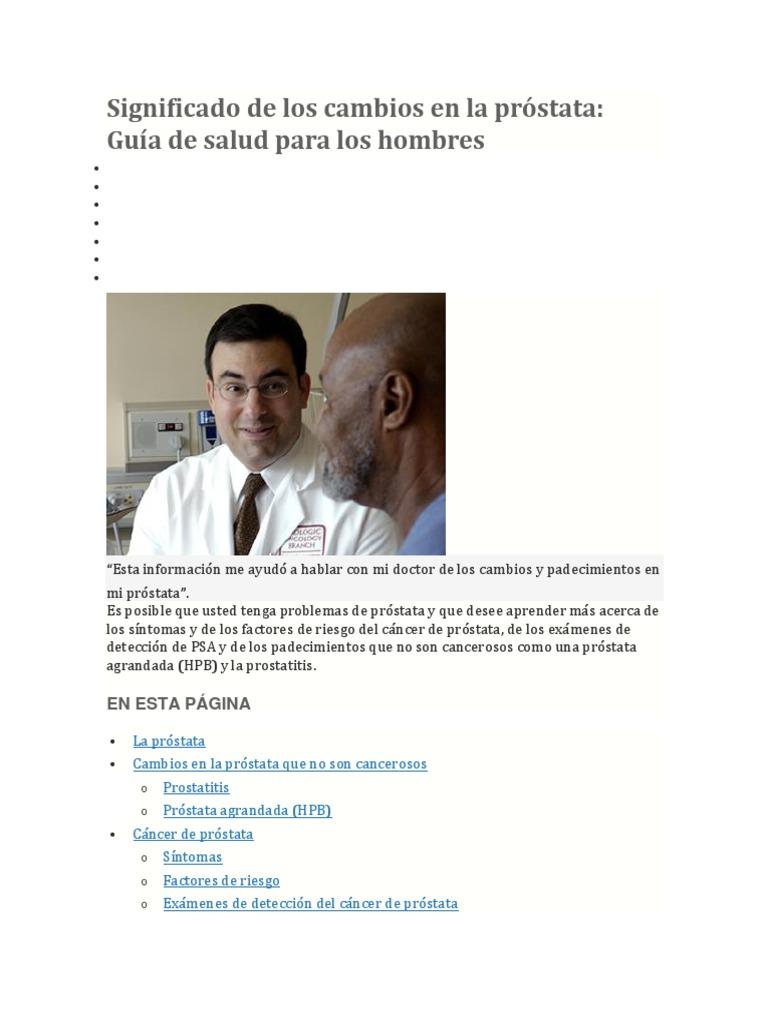 próstata o prostatitis agrandada