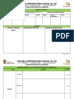 Formato de Planeacion Para Llenar 2018