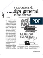«La convocatoria de huelga general de 29 de septiembre»