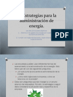 3.1 Estrategias Para La Administración de Energía.