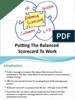 Balanced Score Sheet to Work
