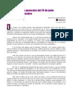 «Ante las huelgas generales de 29 de junio y 29 de septiembre»