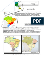 Regiões e Regionalizações
