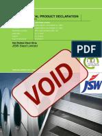 JSW Structural Steel Invalid Void