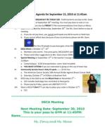 DECA Meeting Agenda for September 15