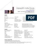 meredith doyle resume august 2018