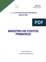 Guía de Costos No 12 - Catálogo de Costos Unitarios Primarios