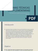 Normas técnicas complementarias