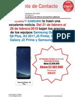 Baja de Precios Samsung