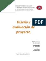 Diseño y Evaluacion de Proyecto Informe