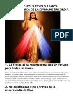 17 Cosas Que Jesús Reveló a Santa Faustina Acerca de La Divina Misericordia