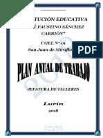 Plan Anual de Trabajo J.T 2018