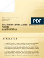 Shockwave Suppression by Vehicle-To-Vehicle