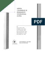 Medida Canadiense de Rendimiento Ocupacionla (Copm) (1)