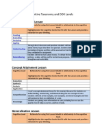 cognitive taxonomy and dok levels