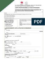 Formulaire de Demande de Carte Professionnelle via Le Poste Diplomatique Ou Consulaire Wallonie