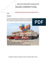 Heavy Transport heavy lift Modular Trailers