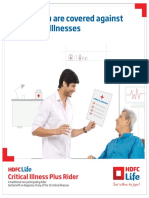 HDFC Life Critical Illness Plus Rider Brochure