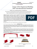 Analysis and Design of PEB using IS800 and international standard