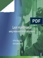 Lean Maintenance Performance Management