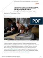 Las 'Medicinas Alternativas' Aumentan Hasta Un 470% El Riesgo de Muerte en Pacientes de Cáncer _ Ciencia _ EL PAÍS