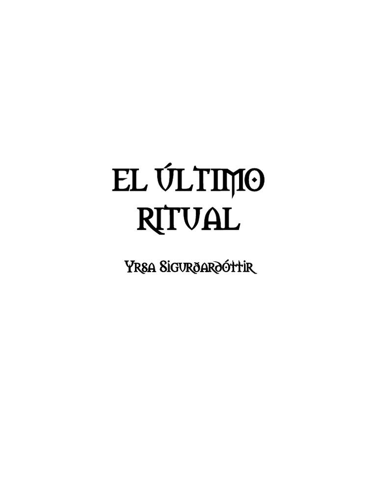 YRSA SIGURDARDOTTIR - El Último Ritual.pdf