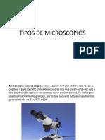 los Tipos de Microscopios y sus usos