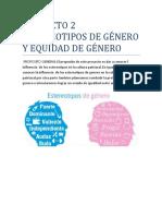 Proyecto 2 Estereotipos de Género y Equidad de Género