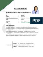 Curriculum Vitae Maribel Noviembre Del 2017