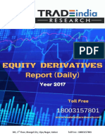 Derivative Prediction Report by TradeIndia Research 20-3-18