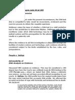Jurisprudence - DNA as Evidence