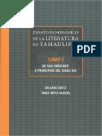 Literatura en Tamaulipas Fragmentos de La Relación Del Nuevo Santander de Fray Vicente de Santa Maria