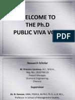 Ph.D Public Viva Voce - PPT