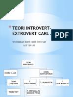 Teori Introvert-extrovert Carl Jung