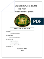 Informe de Caracterizacion de La Arcilla