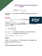 Teorema Del Cambio de Variable Para Integrales Dobles