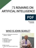Presentation Searle's Remarks on AI Saurav 153042004