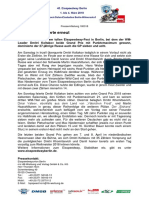 Eisspeedway Berlin 2018, Pressemitteilung 180318