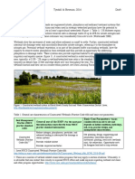 2016 Cost Sheet for Constructed Wetlands