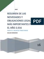 Obligaciones Legales 2016 Tributarias