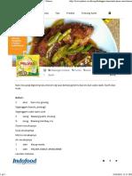 Resep Hidangan Utama - Nila Siram Saus Buncis - Palmia