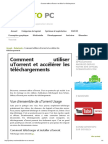 Comment utiliser uTorrent et accélérer les téléchargements.pdf