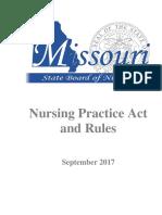 mizzou nurse practice act