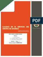 Calidad en El Servicio Del Centro de Idiomas