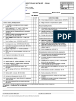 Electrical Final Checklist