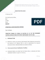Exchange Control Directive RT02 of 2018