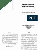 Antennas for VHF and UHF