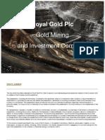 George Royal Gold Presentation