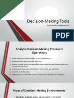 Pertemuan 3 Decision Making Tools v 2018